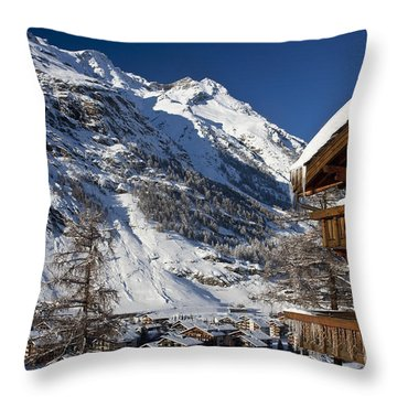 Zermatt Throw Pillow by Brian Jannsen