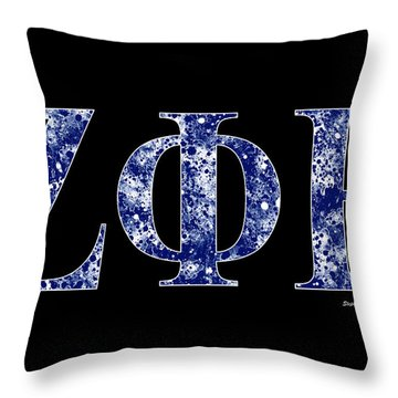 Zeta Phi Beta - Black Throw Pillow