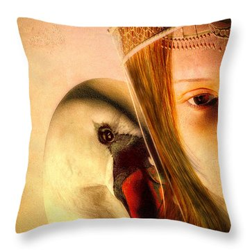 Zeus And Leda Throw Pillow by Bob Orsillo