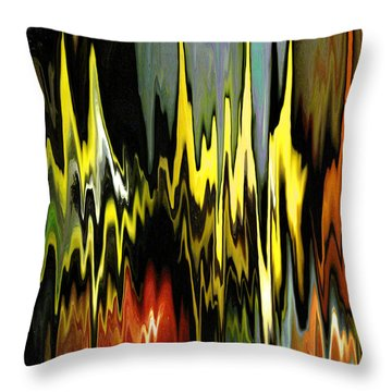 Throw Pillow featuring the digital art Zig Zag by Mary Bedy