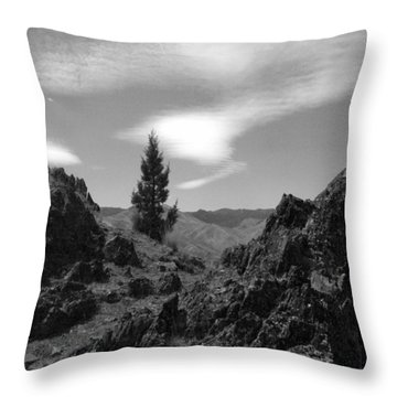 Throw Pillow featuring the photograph Zig Zag Sky by Tarey Potter