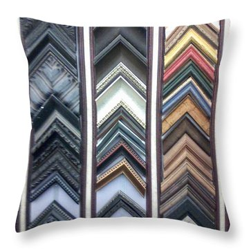 Throw Pillow featuring the photograph Zig Zags by Fortunate Findings Shirley Dickerson
