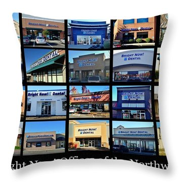 Throw Pillow featuring the photograph Zimmer Dental Partners With Bright Nows by Benjamin Yeager