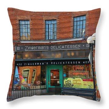 Zingermans Deli In Ann Arbor 5041 Throw Pillow