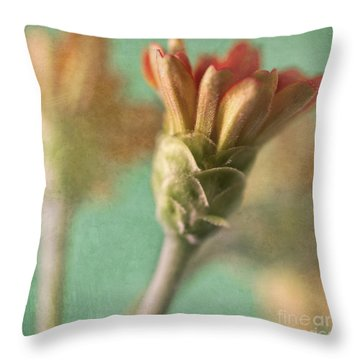 Zinnia Throw Pillow by Elena Nosyreva