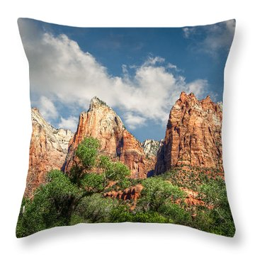 Throw Pillow featuring the photograph Zion Court Of The Patriarchs by Tammy Wetzel