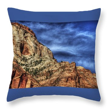 Zion Face 695 Throw Pillow
