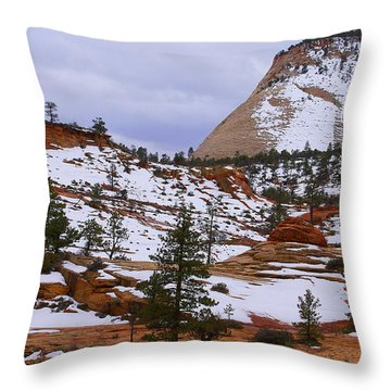 Zion Landscape Throw Pillow