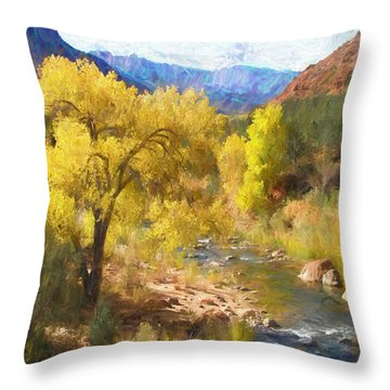 Zion National Park Throw Pillow