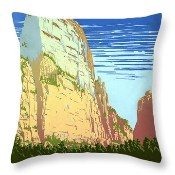 Zion National Park Ranger Naturalist Service  Throw Pillow by Unknown