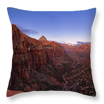 Zion's Twilight Throw Pillow