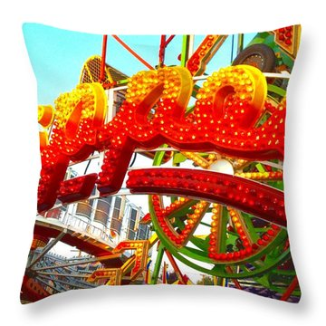 Throw Pillow featuring the photograph Zipper  by Marianne Dow