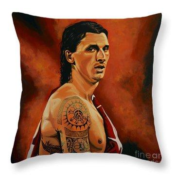 Zlatan Ibrahimovic Painting Throw Pillow