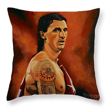Zlatan Ibrahimovic Painting Throw Pillow