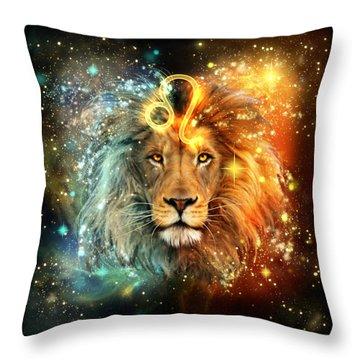 Zodiac Leo Throw Pillow
