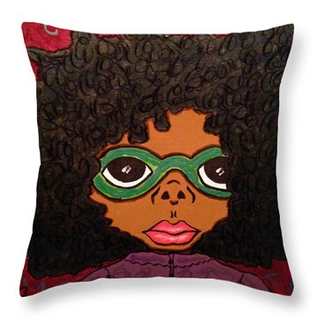 Zoe Throw Pillow by Chrissy  Pena