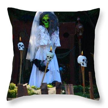 Zombie Bride Throw Pillow by Patrick Witz