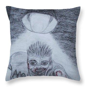 Zombified Throw Pillow