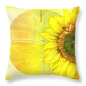 Zonnebloem Throw Pillow