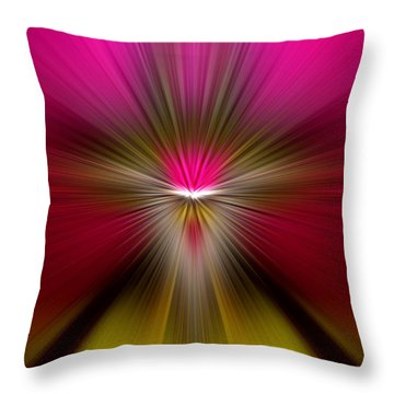Throw Pillow featuring the digital art Zoom by Trena Mara