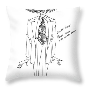Zoot Suit Illustration 2 Throw Pillow
