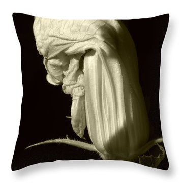Zucchini Flower Throw Pillow
