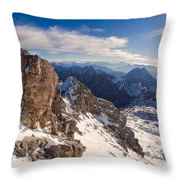 Zugspitze Summit Throw Pillow