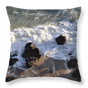 Zuma Beach Throw Pillow