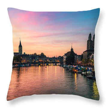 Zuerich Throw Pillows