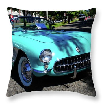 55 Corvette Throw Pillow