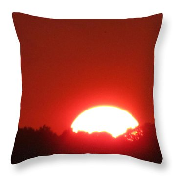 Throw Pillow featuring the photograph  A Very Red Summer Sunset by Tina M Wenger