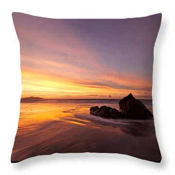 Atomic Sunset Throw Pillow