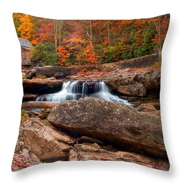 Autumn Leaves At The Mill Throw Pillow by Randall Branham