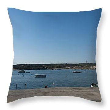 Bugibba Harbour Malta Throw Pillow by Guy Viner