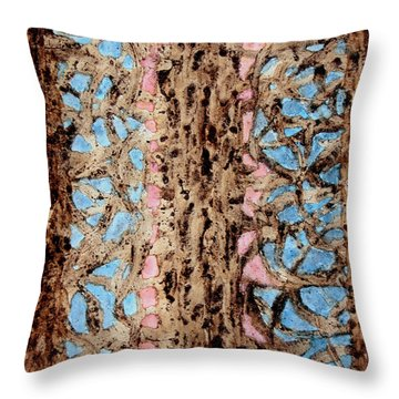 Coffee Trees Throw Pillow by TB Schenck