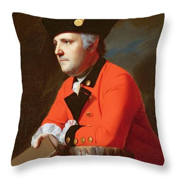 Colonel John Montresor  Throw Pillow by John Singleton Copley