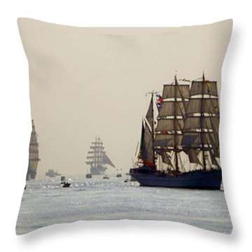 Colossal Vessels Throw Pillow