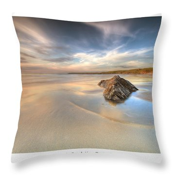 Dusk On The Beach Throw Pillow