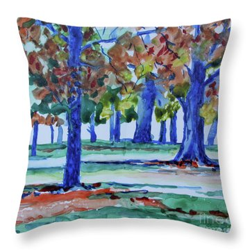 Fall In My Backyard Throw Pillow