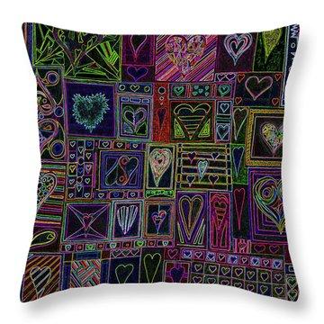 Find U'r Love Found V 3 Throw Pillow