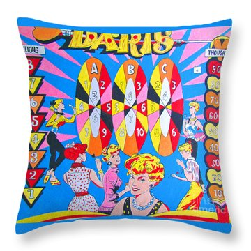 Girl Darts Throw Pillow