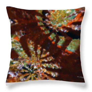 In Me You May Have Peace. Christian Art Poster Throw Pillow by Mark Lawrence