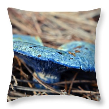 Indigo Milky Throw Pillow by Susan Leggett