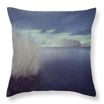 Throw Pillow featuring the photograph  Infrared At Llyn Brenig by Beverly Cash