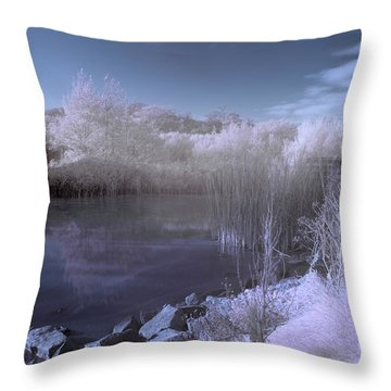 Infrared Pond Throw Pillow