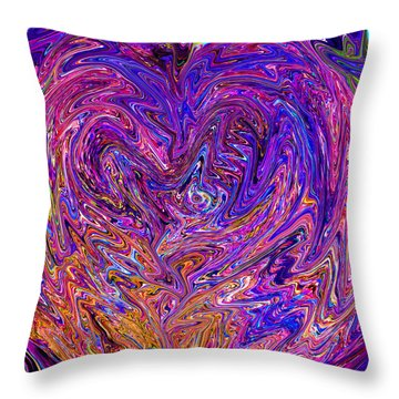 Love From The Ripple Of Thought  V 6  Throw Pillow