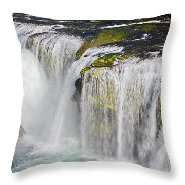 Lower Falls On The Upper Lewis River Throw Pillow