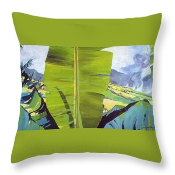 Maui Plantation Throw Pillow