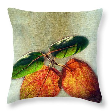 Memory Of Leaves Throw Pillow by Judi Bagwell