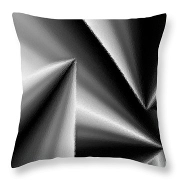 Metallic Depth  Throw Pillow